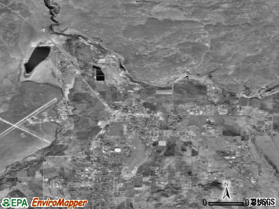 Springerville satellite photo by USGS