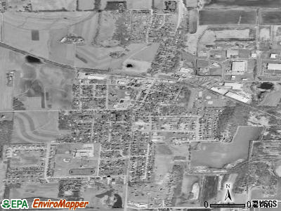 Deerfield satellite photo by USGS