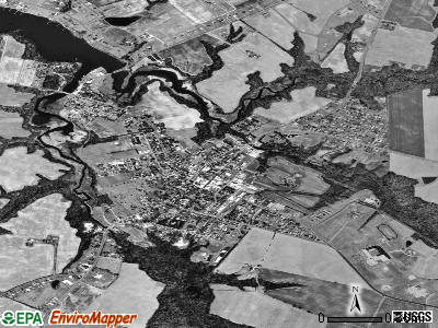 Centreville satellite photo by USGS