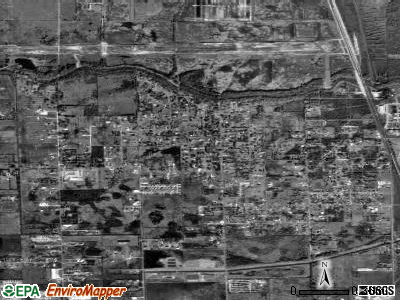 Brookside Village satellite photo by USGS