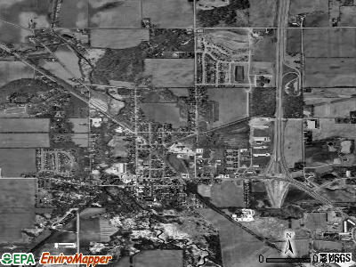 Genoa City satellite photo by USGS