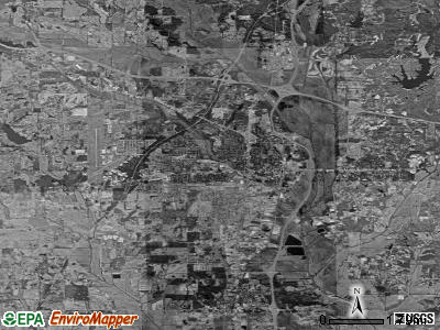 Tupelo satellite photo by USGS