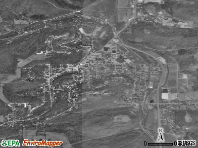 French Lick satellite photo by USGS