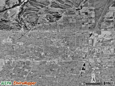 Claremont satellite photo by USGS