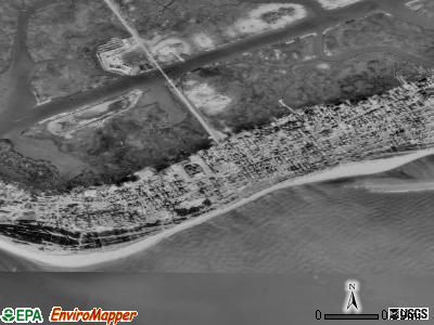 Sullivan's Island satellite photo by USGS