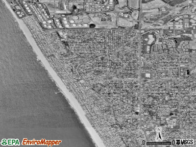 Manhattan Beach satellite photo by USGS