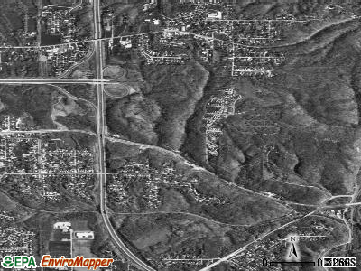 Bellevue satellite photo by USGS