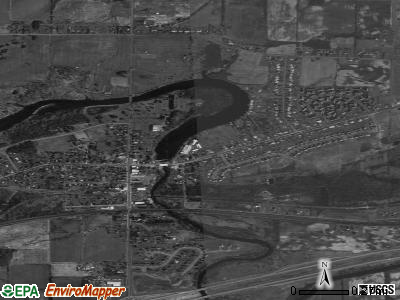 Churchville satellite photo by USGS
