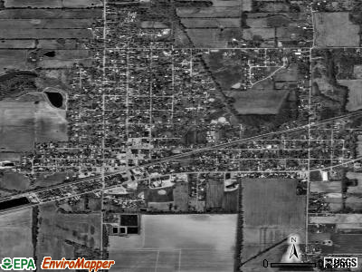 Carrier Mills satellite photo by USGS