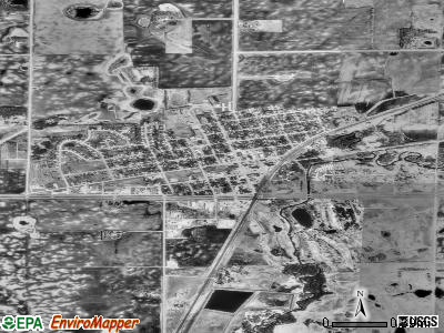 Hawley satellite photo by USGS