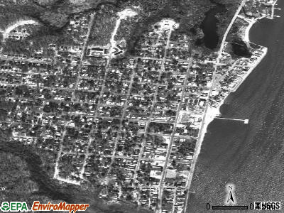 North Beach satellite photo by USGS