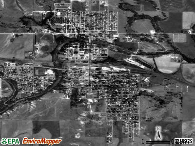 Ellis satellite photo by USGS