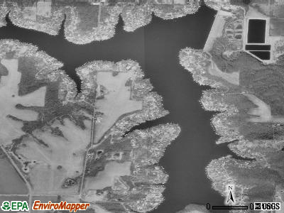 Lake Lotawana satellite photo by USGS