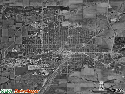 Galesburg satellite photo by USGS