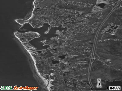 West Falmouth satellite photo by USGS