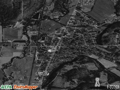 Franklinville satellite photo by USGS