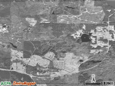 Meridian Station satellite photo by USGS