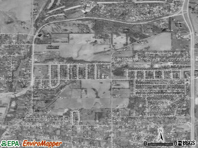 Country Club satellite photo by USGS