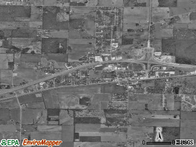 Strafford satellite photo by USGS