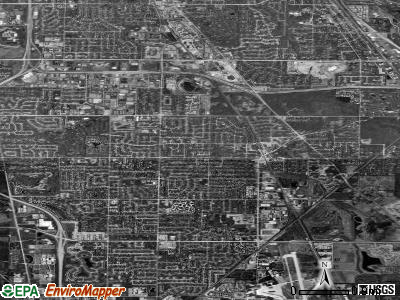 Northbrook satellite photo by USGS