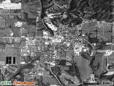Gravette satellite photo by USGS
