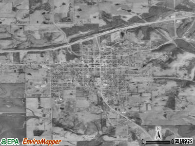 Gallatin satellite photo by USGS