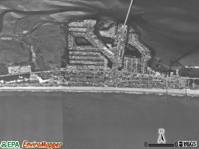Atlantic Beach satellite photo by USGS