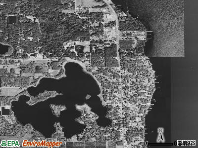 Crescent City satellite photo by USGS