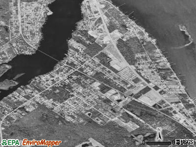 Roseland satellite photo by USGS