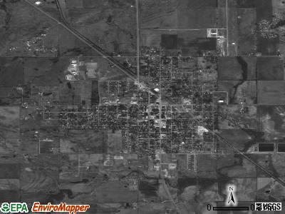 Haskell satellite photo by USGS