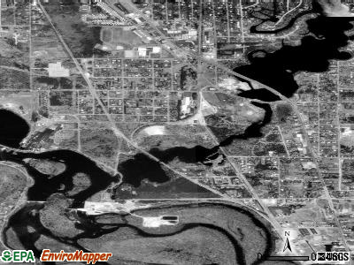 Whiting satellite photo by USGS