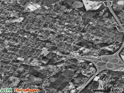 East Cleveland satellite photo by USGS