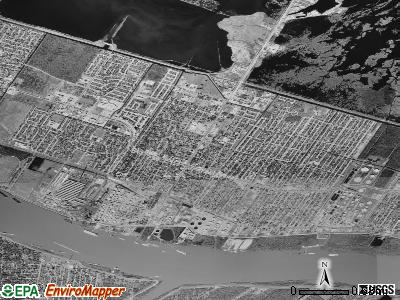 Chalmette satellite photo by USGS