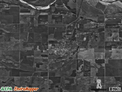 Minco satellite photo by USGS