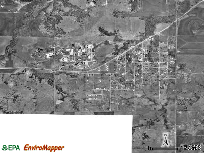 Langston satellite photo by USGS