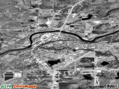 Newaygo satellite photo by USGS