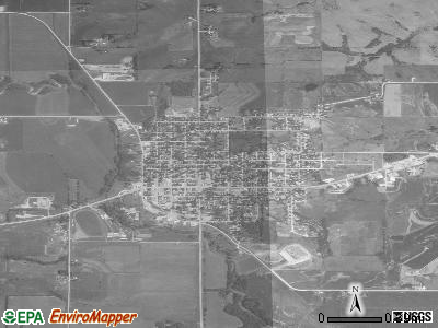 Guthrie Center satellite photo by USGS