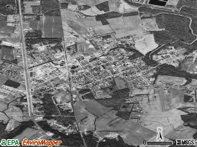 Selbyville satellite photo by USGS