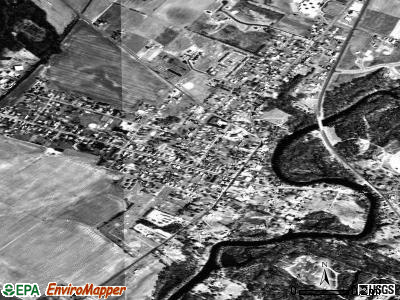 Greensboro satellite photo by USGS