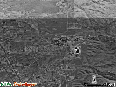 La Luz satellite photo by USGS
