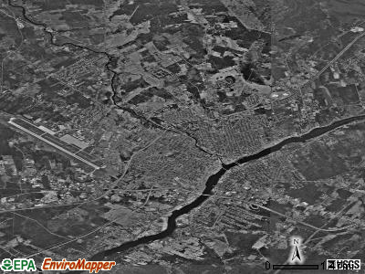 Bangor satellite photo by USGS
