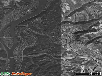Wheeling satellite photo by USGS