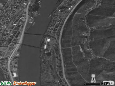 Benwood satellite photo by USGS