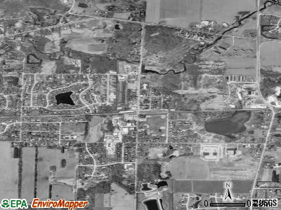 Dousman satellite photo by USGS