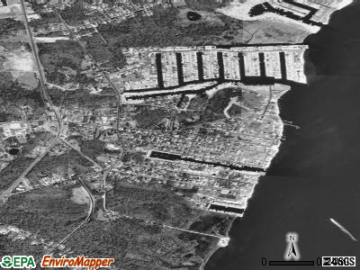 Waretown satellite photo by USGS