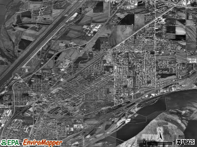 Granite City satellite photo by USGS