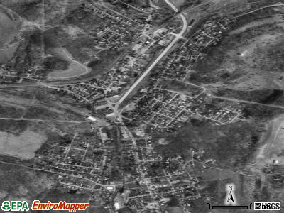 Burgettstown satellite photo by USGS