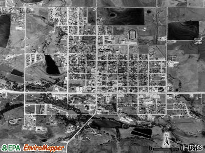 Muenster satellite photo by USGS