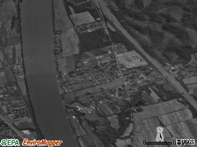Franklin Furnace satellite photo by USGS