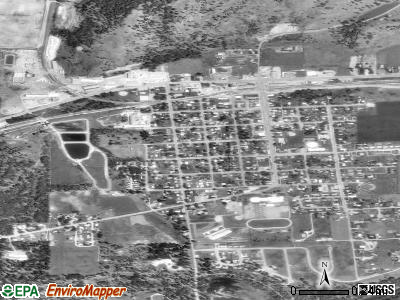 Kettle Falls satellite photo by USGS